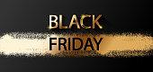 Black Friday Gold colored on black background