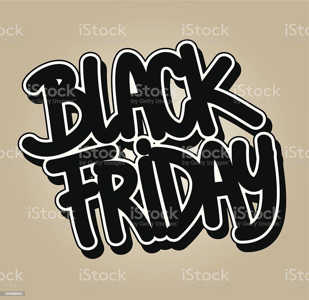Black friday royalty-free stock vector art