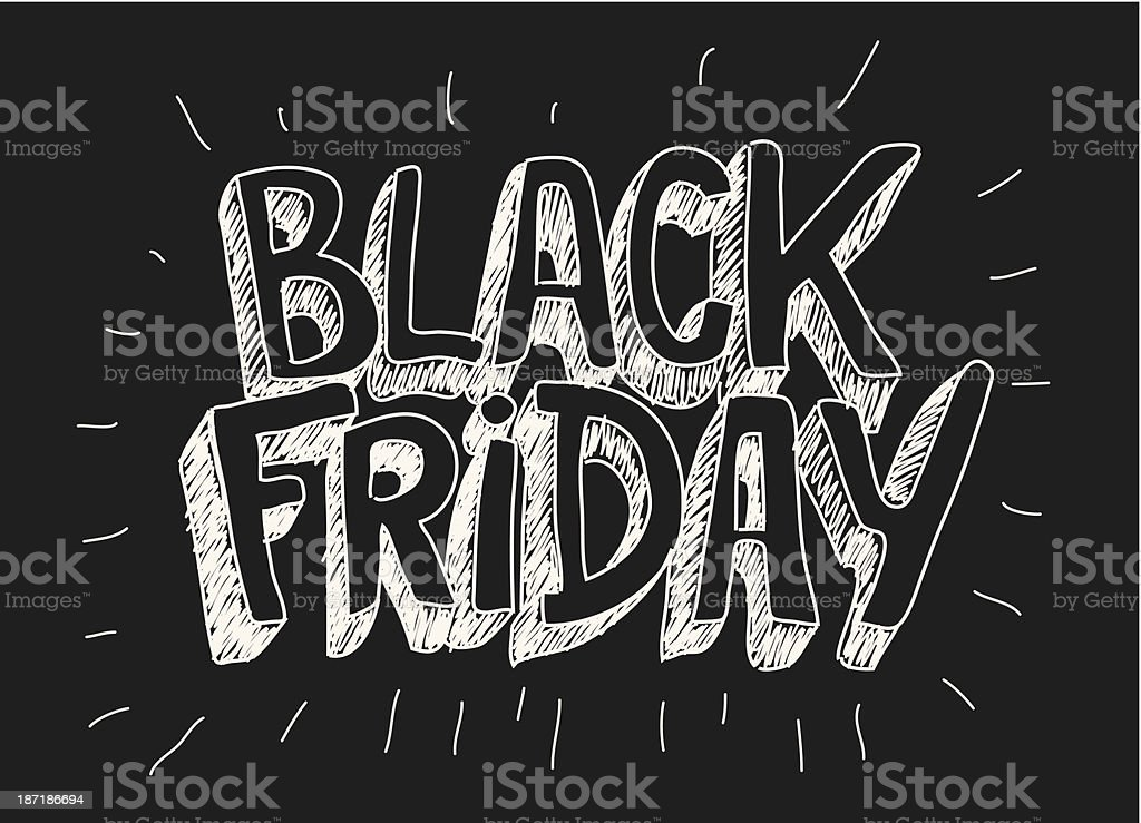 Black friday vector art illustration