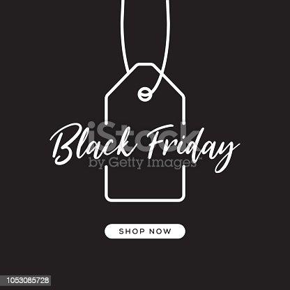 istock Black Friday Web Banner Design 1053085728
