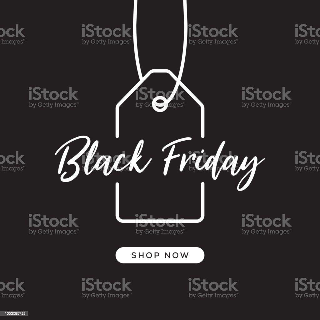 Black Friday Web Banner Design vector art illustration