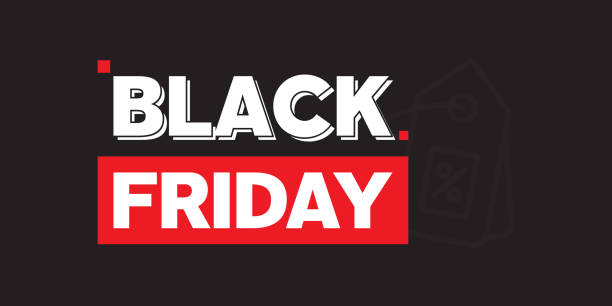 Black Friday Web Banner Design Black Friday Web Banner Design black friday sale stock illustrations