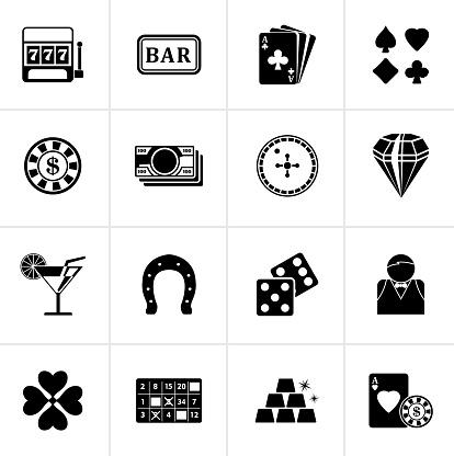 Black Gambling and Casino icons