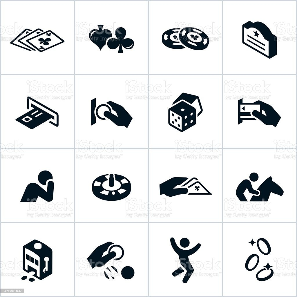 Black Gambling Icons royalty-free black gambling icons stock vector art & more images of addiction