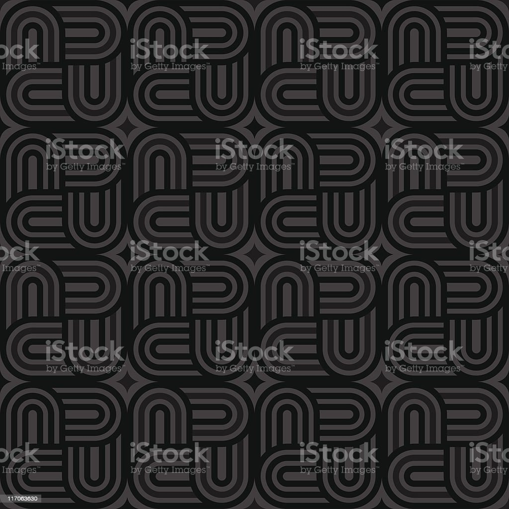 Black Geolock Pattern (Seamless) royalty-free stock vector art