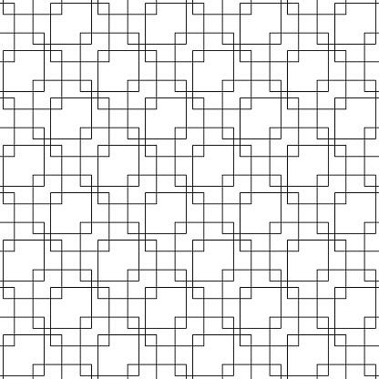 Black Geometric Seamless Pattern On White Background - Immagini vettoriali stock e altre immagini di Astratto