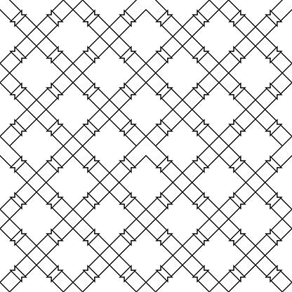 Schwarze Geometrische Nahtlose Muster Auf Weißem Hintergrund Stock Vektor Art und mehr Bilder von Abstrakt