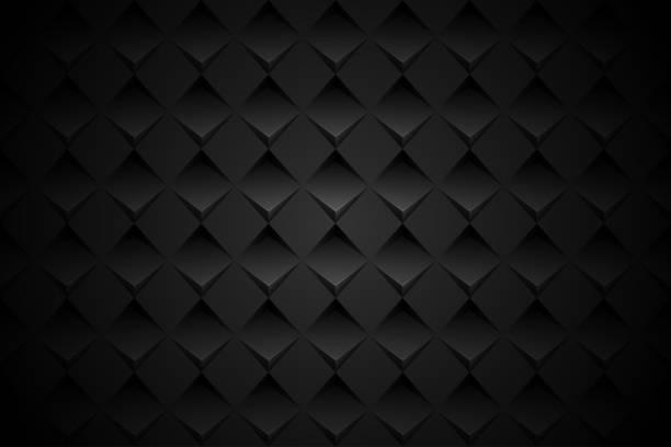 illustrazioni stock, clip art, cartoni animati e icone di tendenza di black geometric shape background - rombo