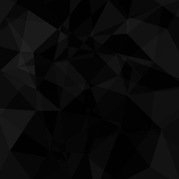 Black geometric triangle background vector art illustration