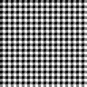 Black Gingham Seamless Pattern