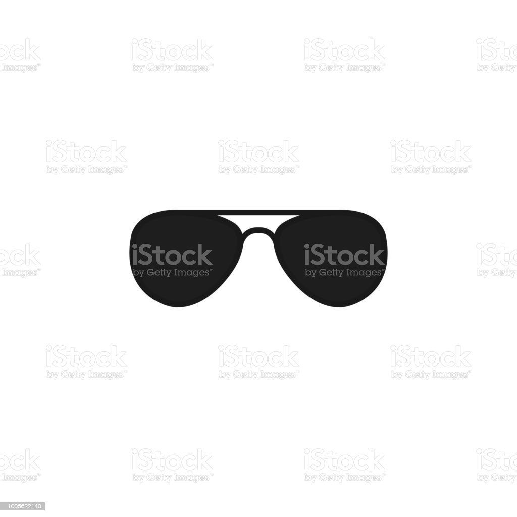 Black glasses. Vector icon illustration. vector art illustration