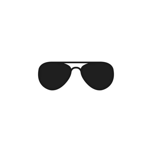 black glasses. vector icon illustration. - sunglasses stock illustrations, clip art, cartoons, & icons