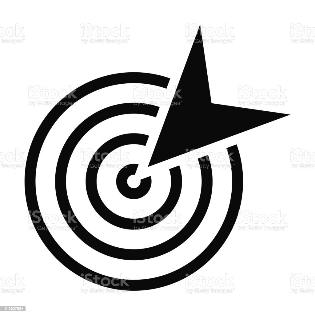 black goal icon vector art illustration