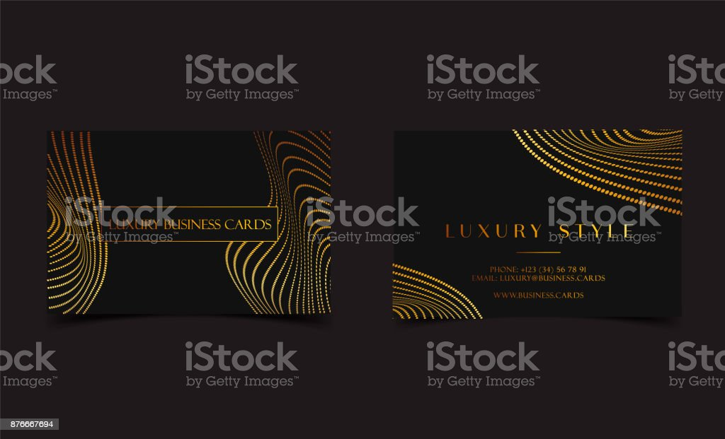 Black Gold Luxury Business Cards For Vip Event Elegant Greeting Card ...