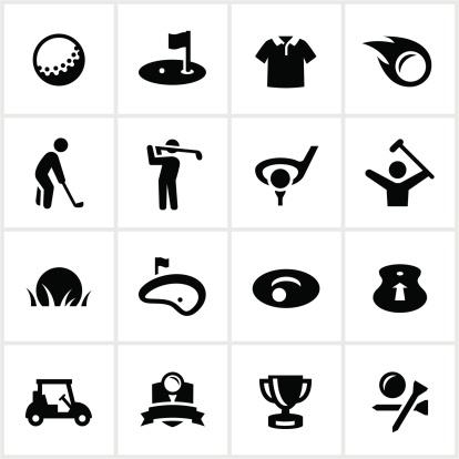 Black Golf Icons