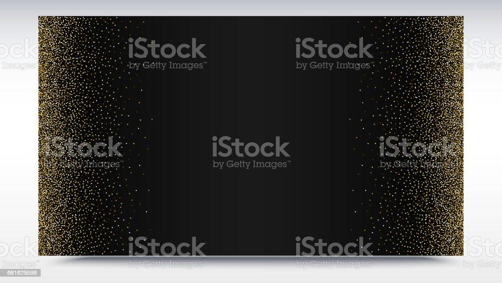 Schwarzen Farbverlauf Hintergrund Mit Goldenen Glänzend Glitzerstaub ...