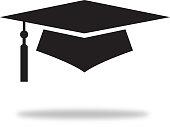 istock Black Graduation Cap With Shadow 1140898825