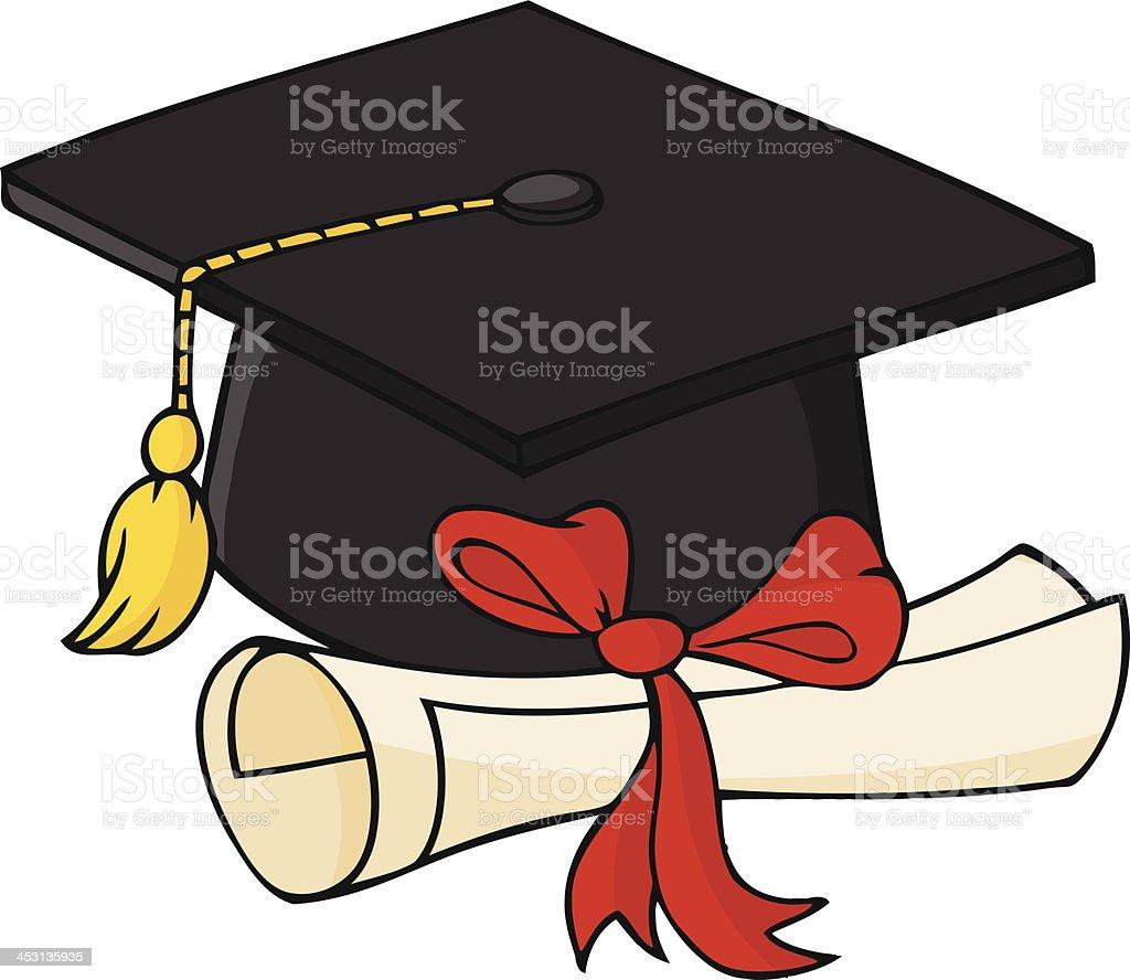 Disegno Tocco Di Laurea.Nero Cappello Di Laurea E Diploma Immagini Vettoriali Stock E