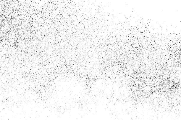czarna ziarnista konsystencja wyizolowana na biało. - piasek stock illustrations