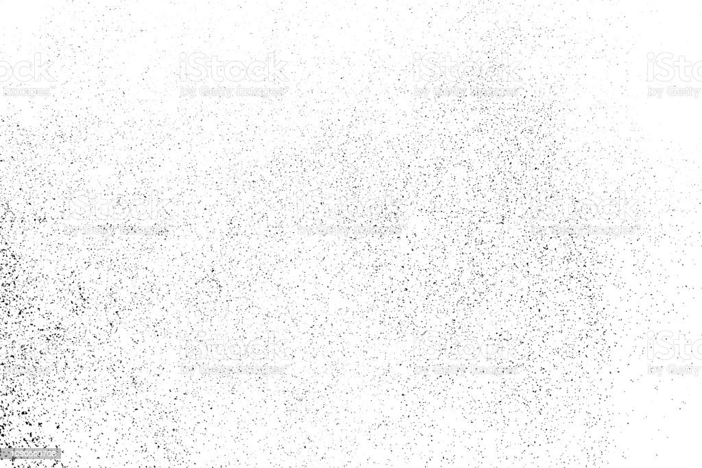 Black grainy texture isolated on white. - Royalty-free Abstrato arte vetorial