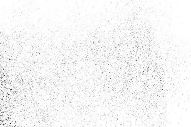 schwarze körnige struktur isoliert auf weiss. - verzweiflung stock-grafiken, -clipart, -cartoons und -symbole