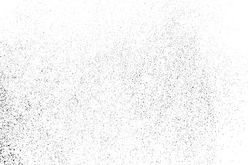 Black Grainy Texture Isolated On White - Arte vetorial de stock e mais imagens de Abstrato