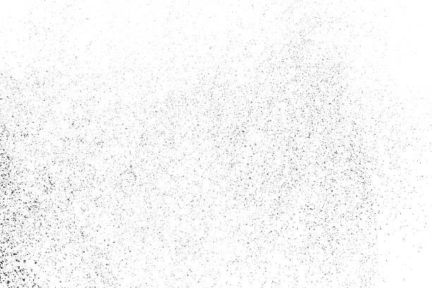 black grainy texture isolated on white. - hałas stock illustrations