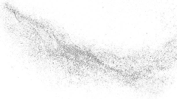 Black Grainy Texture Isolated On White. Black Grainy Texture Isolated On White Background. Distress Overlay Textured. Grunge Design Elements.  Widescreen 16 : 9. Vector Illustration, Eps 10. persistence stock illustrations