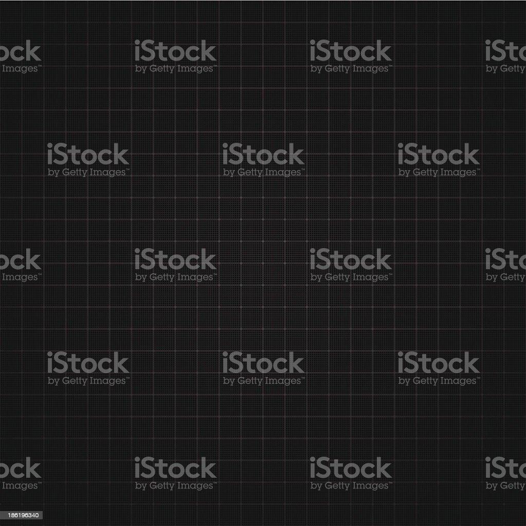 Black graph paper background vector art illustration