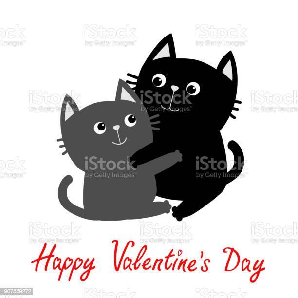 Black gray cat hugging couple family hug embrace cuddle cute funny vector id907559272?b=1&k=6&m=907559272&s=612x612&h=ooy6iicf04kjsbetytnhyhkovnhwcicfkhtixkxnymi=