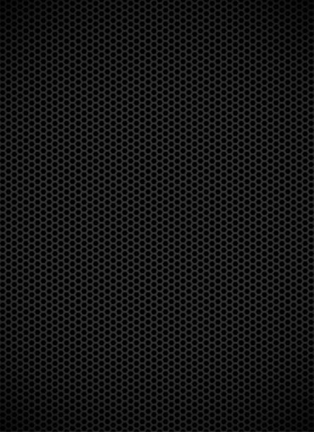 stockillustraties, clipart, cartoons en iconen met zwarte grille achtergrond - maaswerk