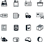 Black Grocery Icons