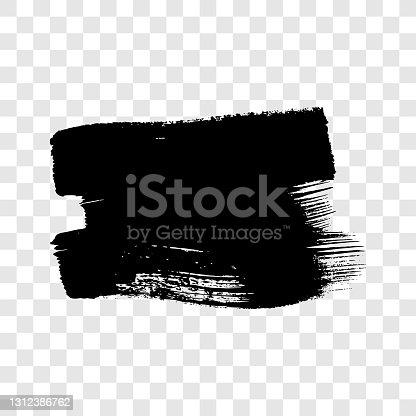 istock Black grunge brush stroke 1312386762