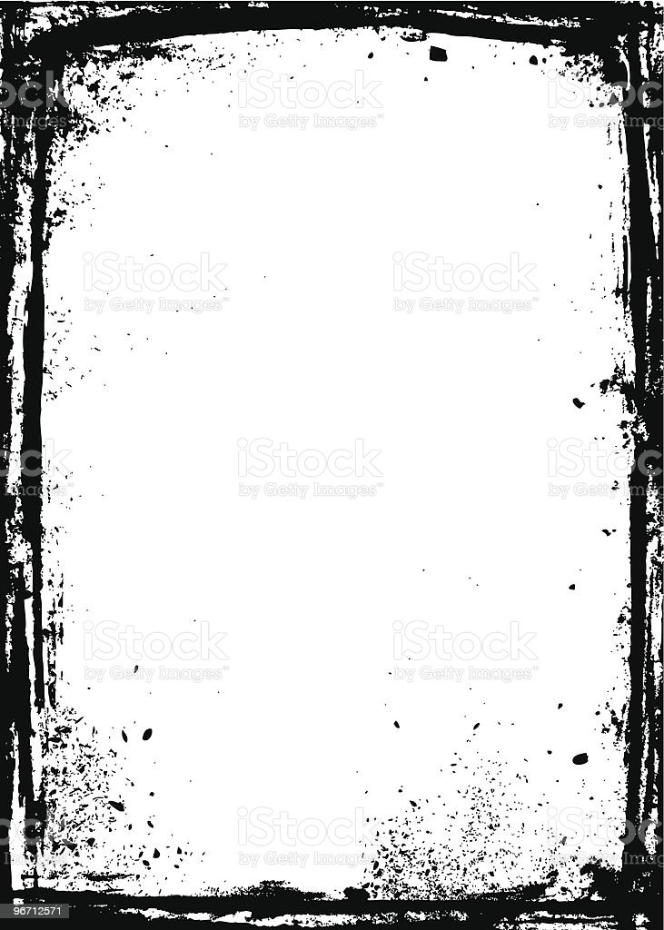 Black grunge frame with white background royalty-free black grunge frame with white background stock vector art & more images of backgrounds