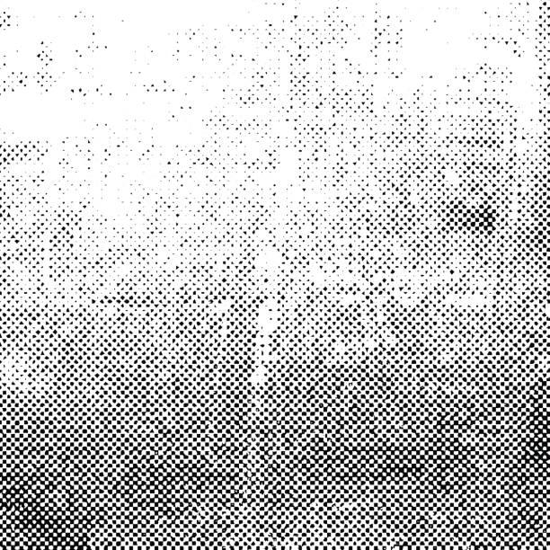 black grunge halftone background - half tone stock illustrations, clip art, cartoons, & icons
