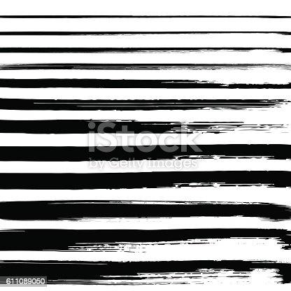 629255068istockphoto Black grunge hand drawn brushstrokes on white background. 611089050