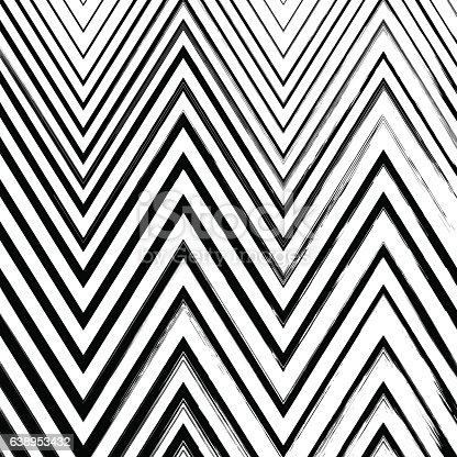 629255068istockphoto Black grunge hand drawn zigzag brushstrokes on white background. 638953432