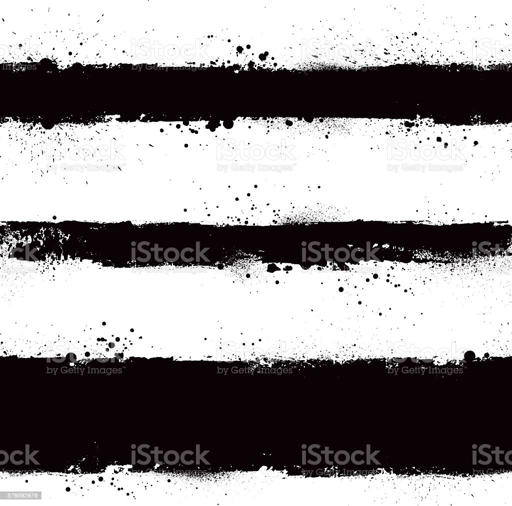black grunge vector strokes - Illustration vectorielle