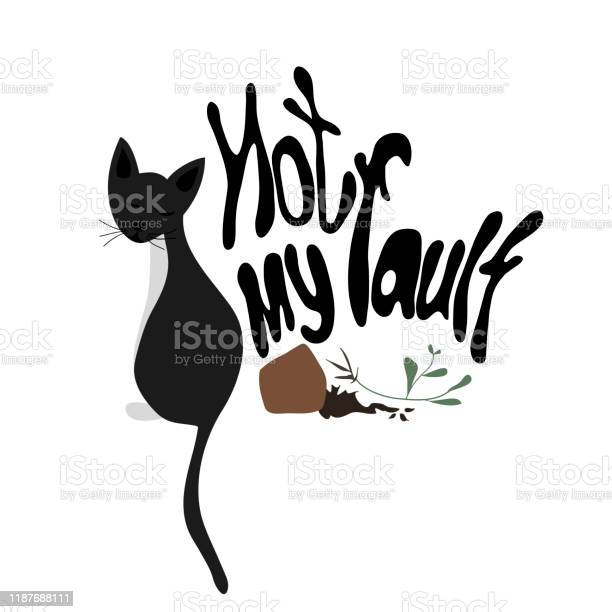 Black guilty cat excuse with broken flower pot hand drawn cute guilt vector id1187688111?b=1&k=6&m=1187688111&s=612x612&h=9qan8h62hm1s44xpzl1ickqa9vmfnzub8ytz7jkmxtw=
