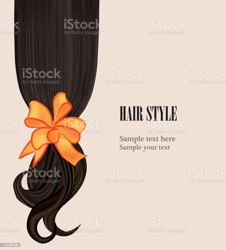 Black Hair style background with copy space royalty-free stock vector art