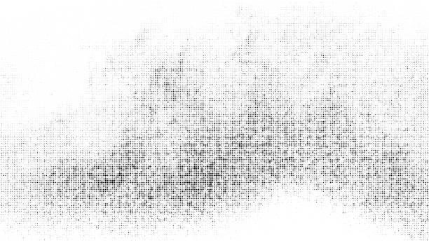 czarny półton kropkowany tło. - brudny stock illustrations