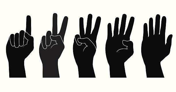 Best Three Fingers Illustrations, Royalty-Free Vector