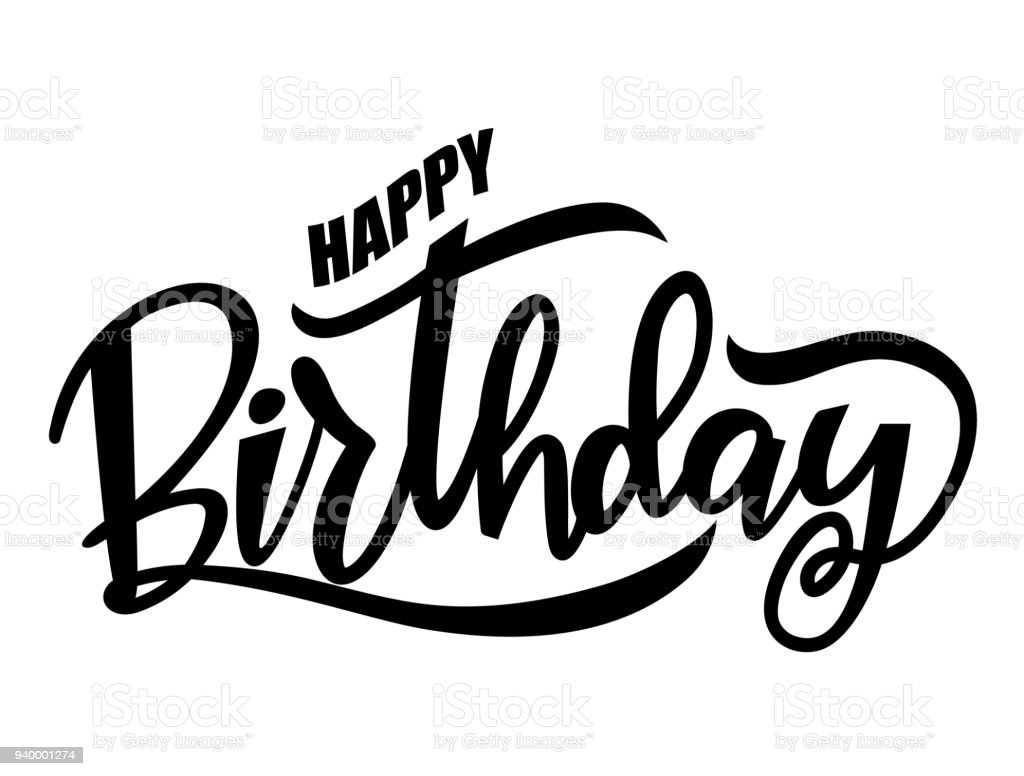 black happy birthday words stock vector art more images of