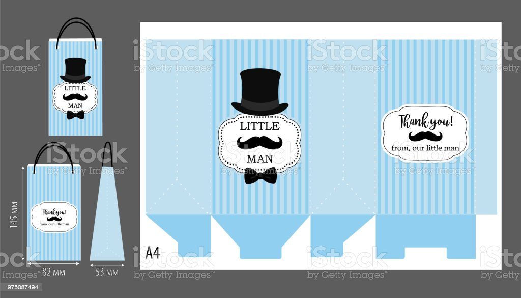 black hat mustache and bow tie printable template for little mans