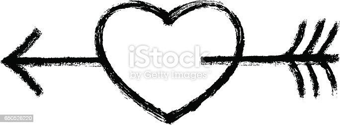Download Black Heart Pierced Arrow Stock Vector Art & More Images ...