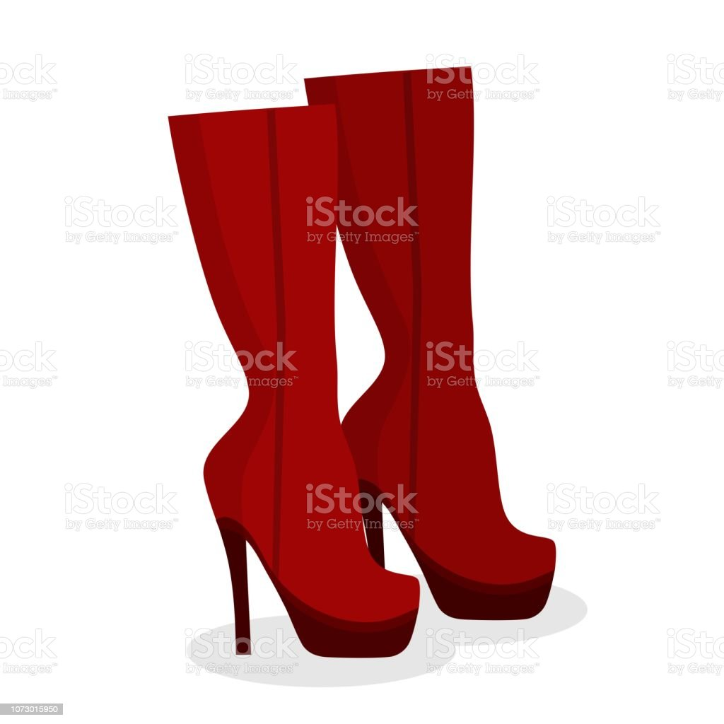 75432cca8a77 Black high heel platform shoes icon on white background. Woman fashion High-Heeled  shoe wedding party girl footwear. Vector illustration - Illustration .