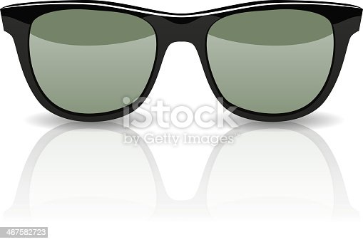 Rayban glasses isolated on white background. Vector