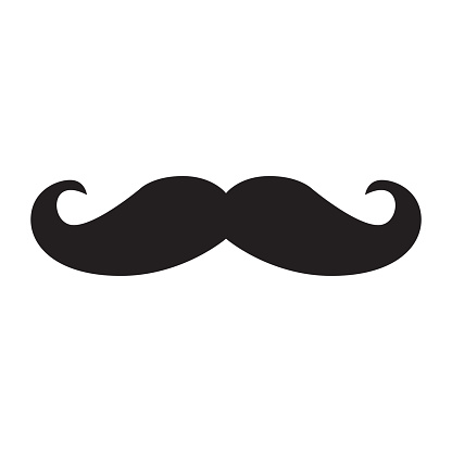 Black hipster vector mustache