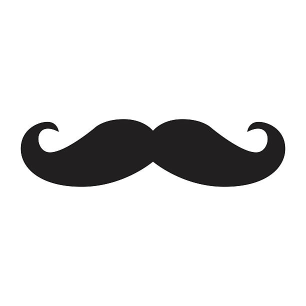 black hipster vector mustache - old man in black stock illustrations, clip art, cartoons, & icons