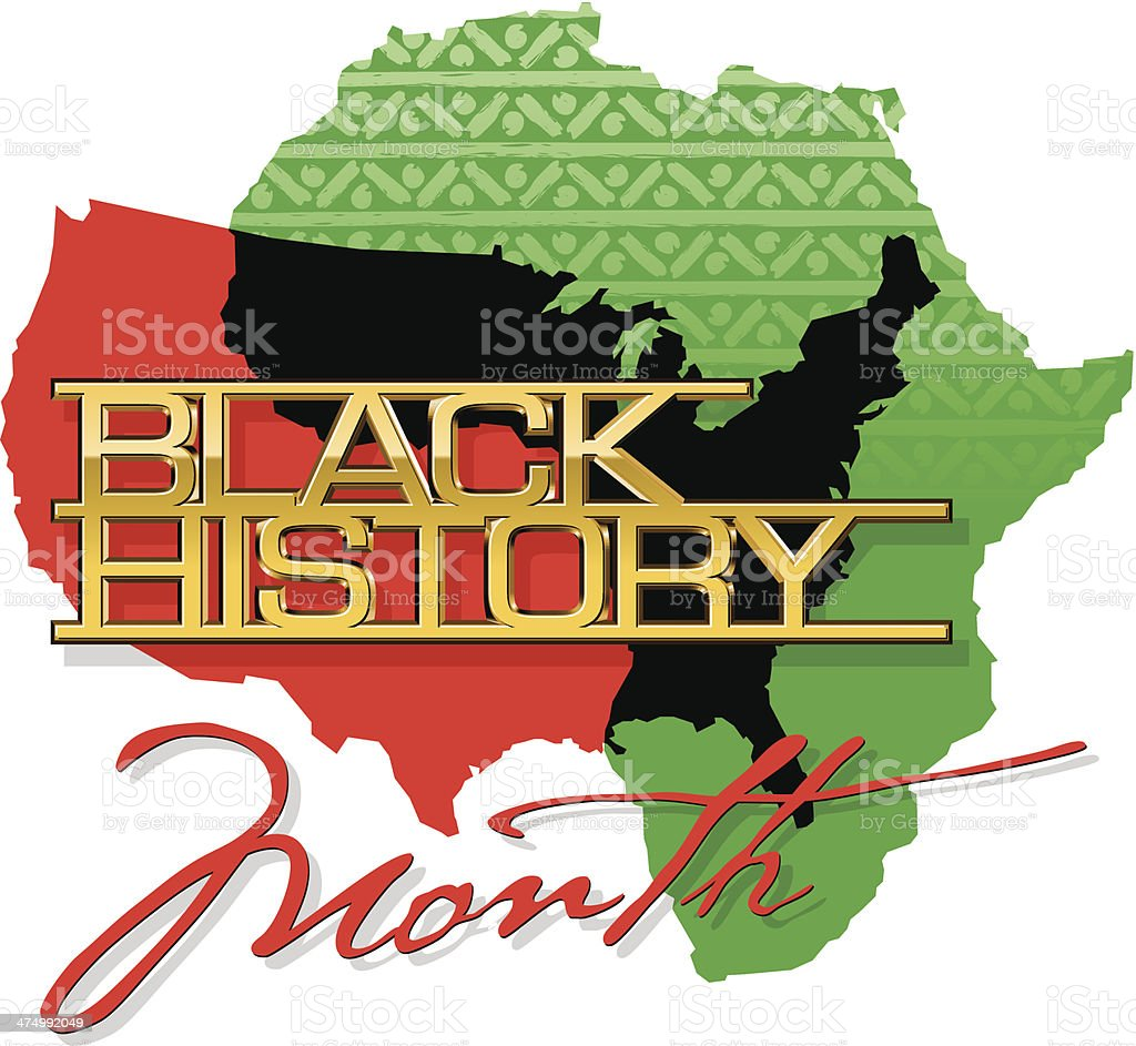 Black History Heading C vector art illustration